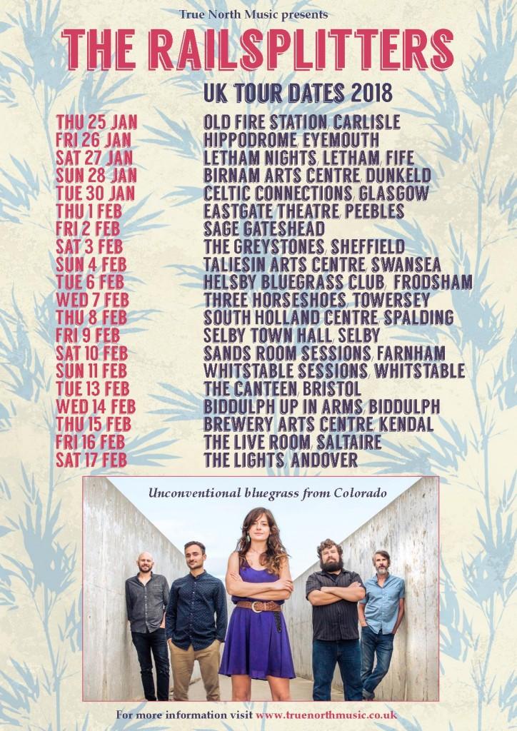 Railsplitters 2018 tour dates poster