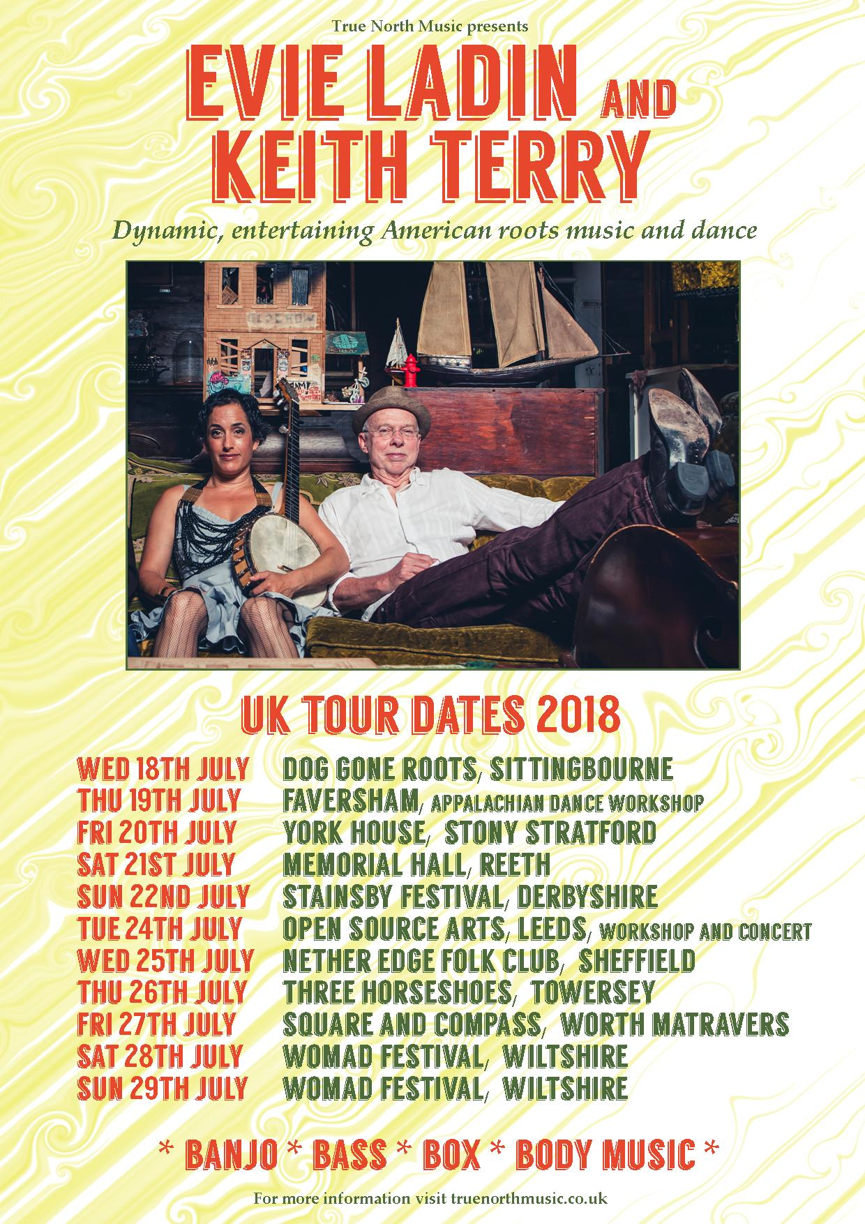 Evie & Keith 2018 tour dates poster May 2018 v2