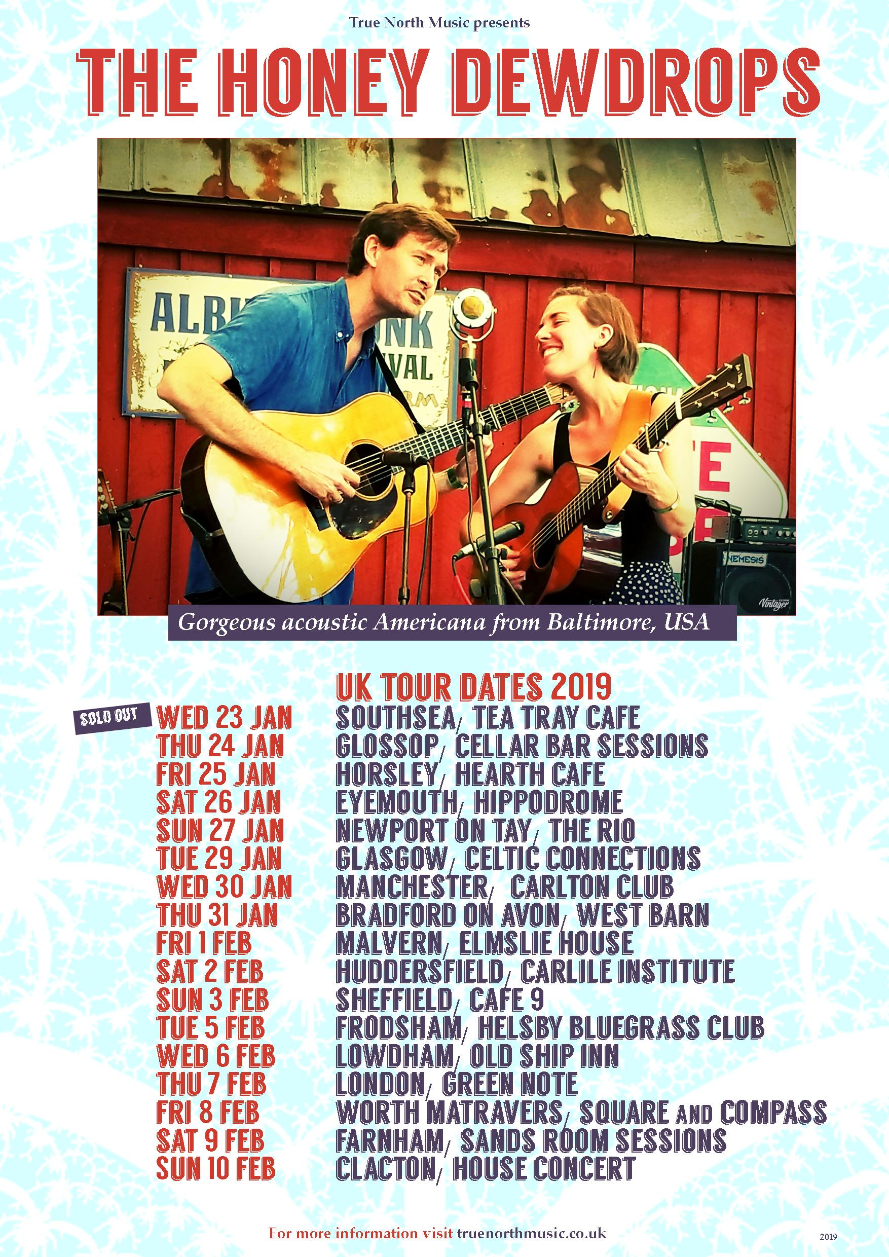 Honey Dewdrops tour dates poster