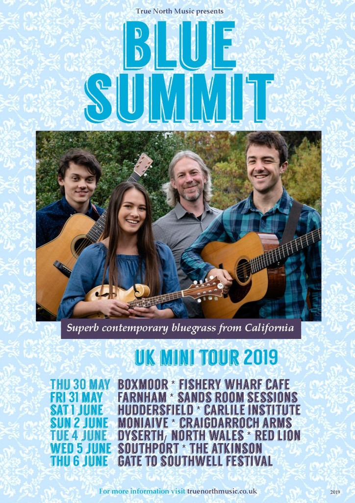 UPDATED Blue Summit tour dates poster