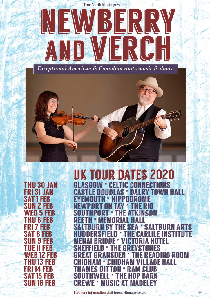 FINAL Newberry Verch 2020 tour dates poster trees
