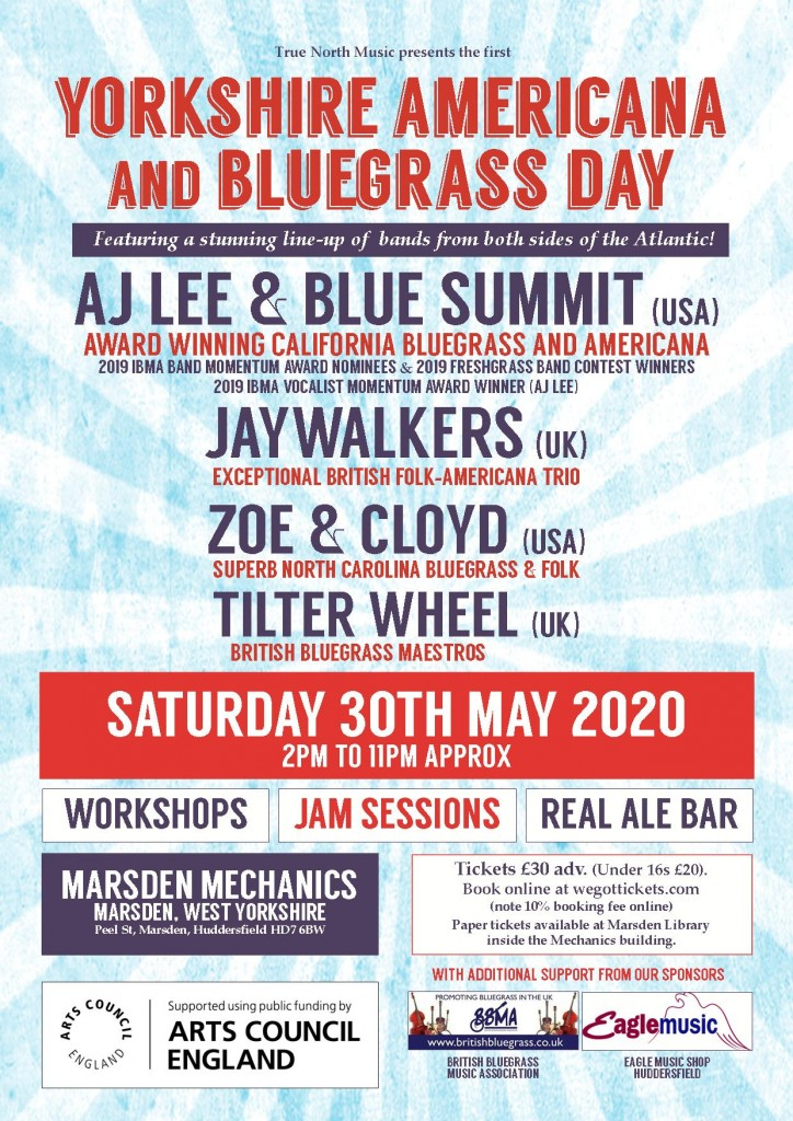 Americana Day A4 poster with Arts Council