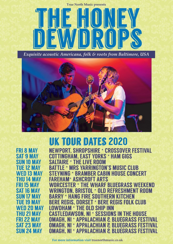 Honey Dewdrops tour dates poster PDFPIC